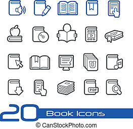 Book Icons // Line Series