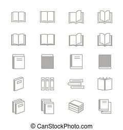 Book Icons Line Set Of Vector