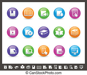 Book Icons // Rainbow Series - Vector icons for your web or...