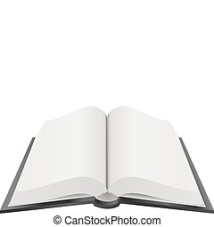 A Vector illustration of an open book with blank pages