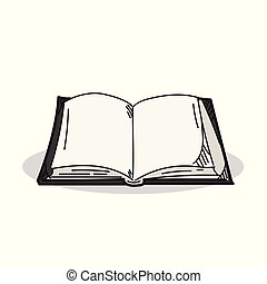 Book illustration on a white background