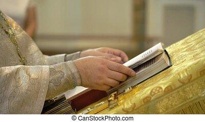 Book in a church