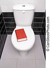Book in the toilet