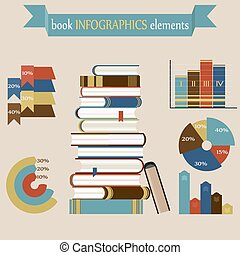 Book Infographics Elements set