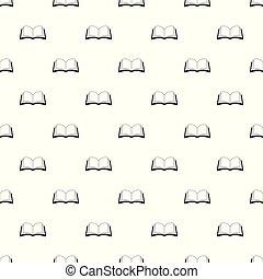 Book information pattern seamless vector