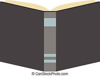 Book isolated, flat style
