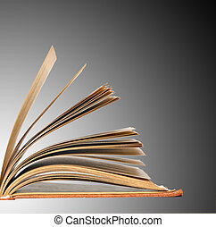 Book isolated on grey background