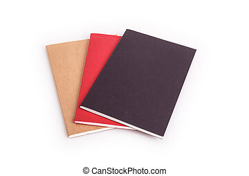Book isolated on white background - Close up book isolated ...