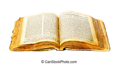 Book isolated on white background.