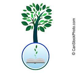 Book Knowledge Tree - Illustration