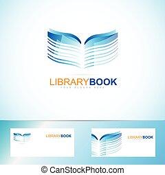 Book library logo