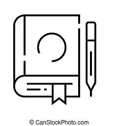Book line icon, concept sign, outline vector illustration, linear symbol.