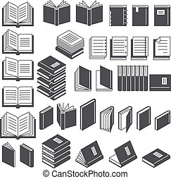 Book line icons set. Vector Illustration.