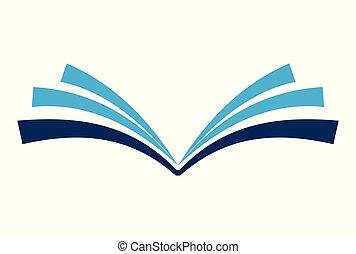 book logo vector logo