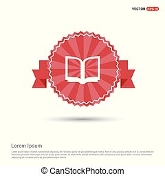 Book Mark Icon - Red Ribbon banner