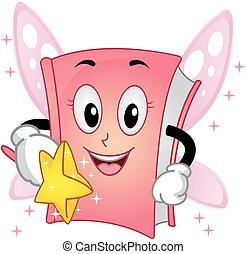 Book Mascot Fairy Wand