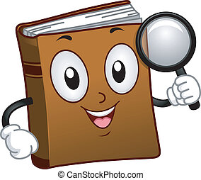 Book Mascot Search - Illustration of a Book Mascot Holding a...