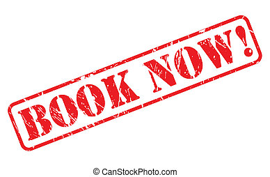 Book now red stamp text