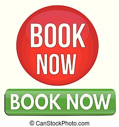 Book now round and square website glossy button