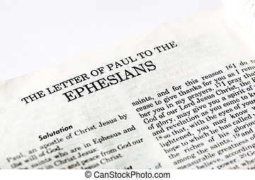 Book of Ephesians - A macro detail of the book of Ephesians...