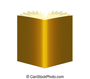 Book of gold, golden - business wealth concept