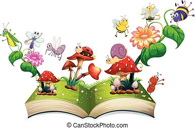 Book of insects in the garden illustration