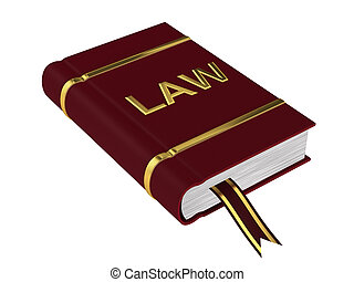Book of Law isolated on a white background.