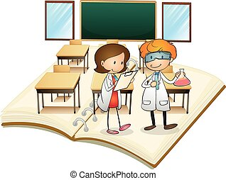 Book of scientists working in the class