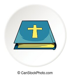 Book of the Bible icon, cartoon style