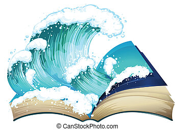Book of wave - Ilustration of a book with waves