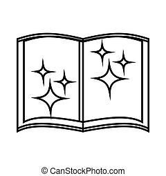Book of wizard icon, outline style