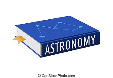 Book on Astronomy with Bookmark Vector Illustration