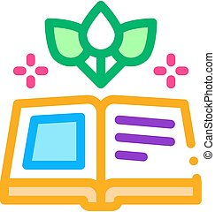 book on traditional medicine icon vector. book on traditional medicine sign. color symbol illustration