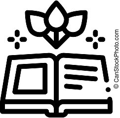 book on traditional medicine icon vector. book on traditional medicine sign. isolated contour symbol illustration