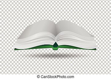 book on transparent background. paper art style. vector illustration