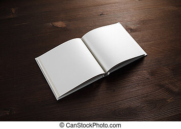 Book on wooden background