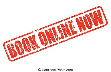 Book online now red stamp text