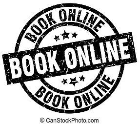 book online round grunge black stamp