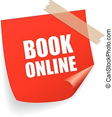 Book online square sticker