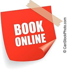 Book online square sticker