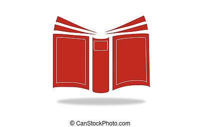 book, open book, set of sheets with information to read