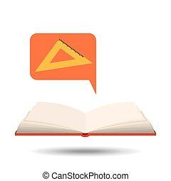 book open concept school squad graphic