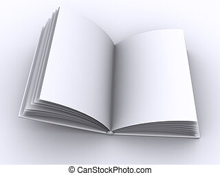 book open - High-res blank book. fill in your own graphic or...