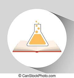 book open laboratory concept school graphic