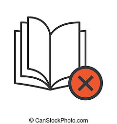 Book open modern icon isolated on white background. vector illustration