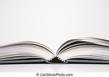 Open book in an abstract environment