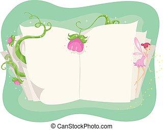 Book Open Pixie Fairy Tale Flowers