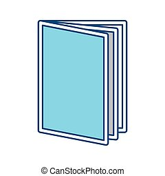 Book open symbol vector illustration