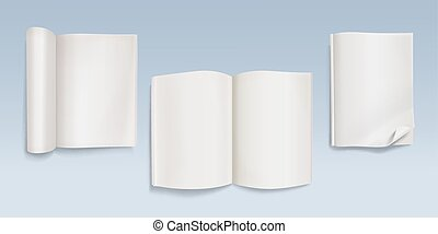 Book or open blank notebook vector illustration
