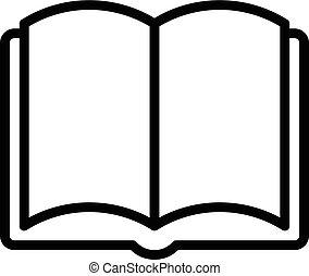 Book Outline Icon